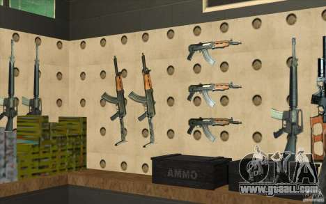 Weapon shop S. T. A. L. k. e. R for GTA San Andreas ninth screenshot