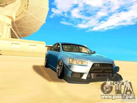 Mitsubishi Lancer Evolution X Time Attack for GTA San Andreas