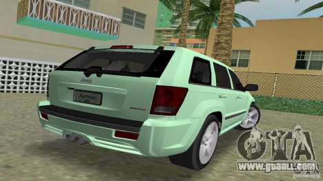 Jeep Grand Cherokee for GTA Vice City left view