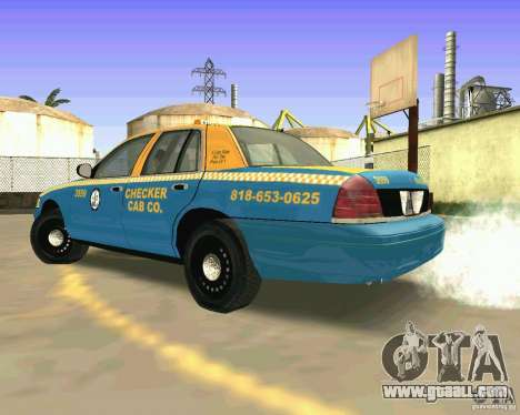 Ford Crown Victoria 2003 Taxi Cab for GTA San Andreas back left view