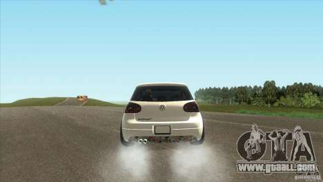 Volkswagen Golf for GTA San Andreas back left view