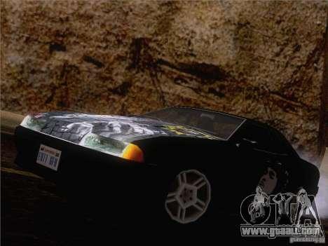 Vinyl Viktor Tsoi for GTA San Andreas back view