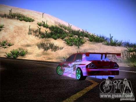 Mitsubishi Lancer Evolution 9 Hypermax for GTA San Andreas upper view