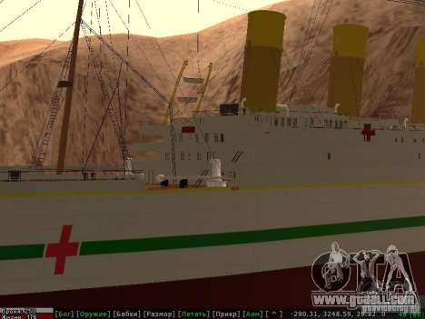 HMHS Britannic for GTA San Andreas bottom view