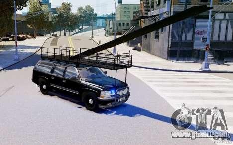 Chevrolet Suburban 2003 Norwegian SWAT Edition for GTA 4 back left view