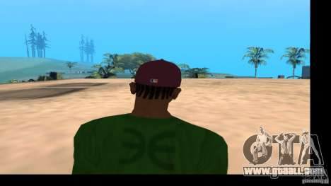 Baseball Cap with the logo of the band HIM for GTA San Andreas fifth screenshot