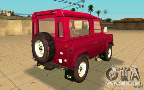 Land Rover Defender 90SW for GTA San Andreas back left view