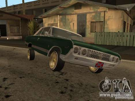 Mercury Park Lane Lowrider for GTA San Andreas back left view