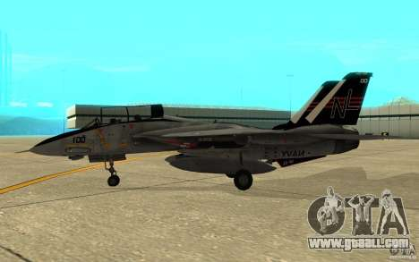 F-14A Screaming Eagles VF-51 for GTA San Andreas back left view