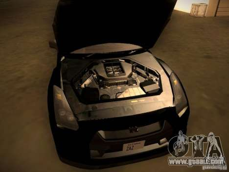 Nissan GT-R for GTA San Andreas inner view
