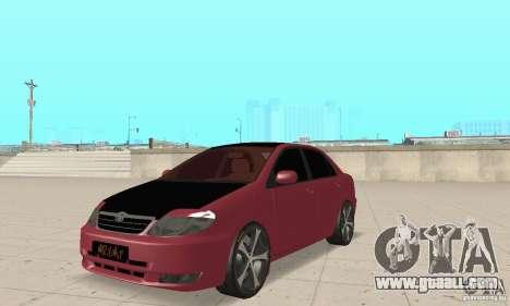 Toyota Corolla Tuning for GTA San Andreas
