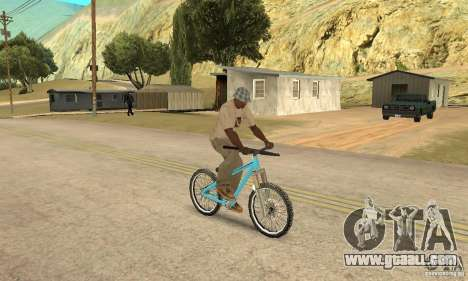 Dirt Jump Bike for GTA San Andreas back view