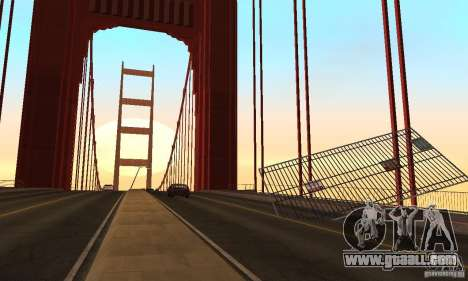 Destroyed bridge in San Fierro for GTA San Andreas seventh screenshot