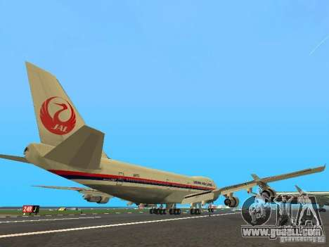 Boeing 747-100 Japan Airlines for GTA San Andreas right view
