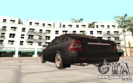 LADA priora 2172 hatchback for GTA San Andreas back left view