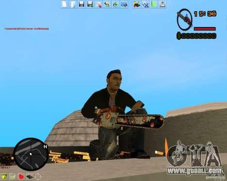 Smalls Chrome Gold Guns Pack for GTA San Andreas fifth screenshot