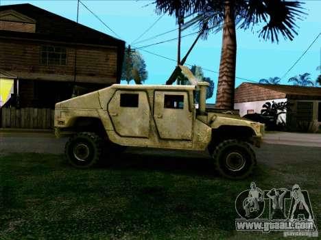Hummer H1 Irak for GTA San Andreas left view