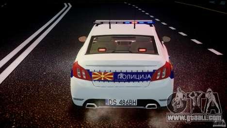 Peugeot 508 Macedonian Police [ELS] for GTA 4 engine