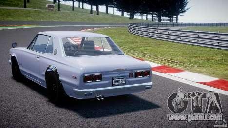 Nissan Skyline 2000 GT-R for GTA 4 back left view