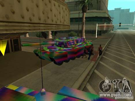 A cheery color tank for GTA San Andreas inner view