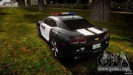 Chevrolet Camaro Police (Beta) for GTA 4 back left view