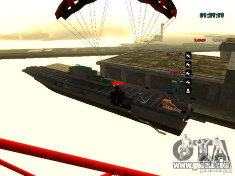 Knapsack-parachute for GTA: SA for GTA San Andreas seventh screenshot