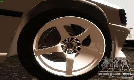 Mercedes-Benz 190E V2.0 for GTA San Andreas back left view