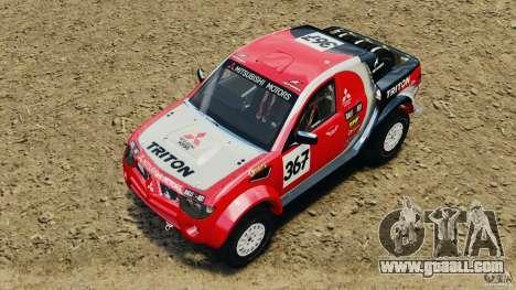 Mitsubishi L200 Triton for GTA 4 back view