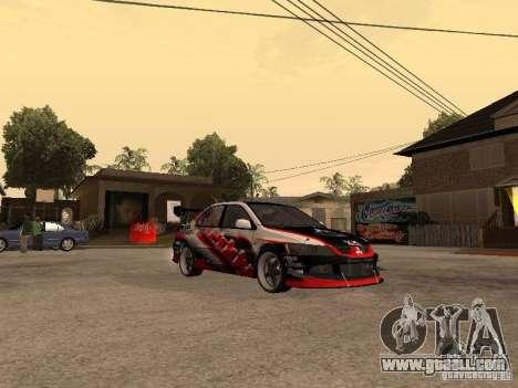 Mitsubishi Lancer Evolution 8 GReddy for GTA San Andreas right view