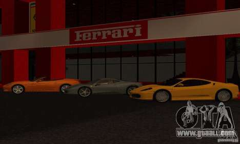 New Ferrari Showroom in San Fierro for GTA San Andreas second screenshot