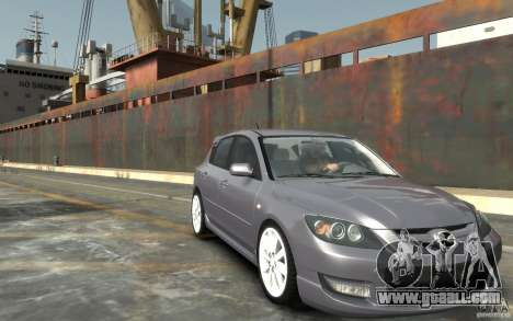Mazda 3 for GTA 4 back view