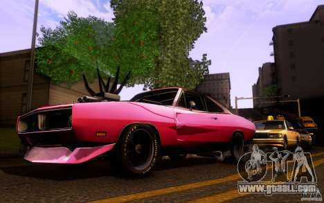 Dodge Charger RT for GTA San Andreas inner view