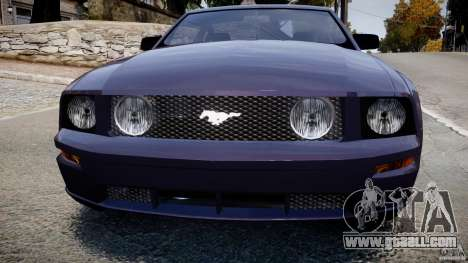 Ford Mustang for GTA 4 back view