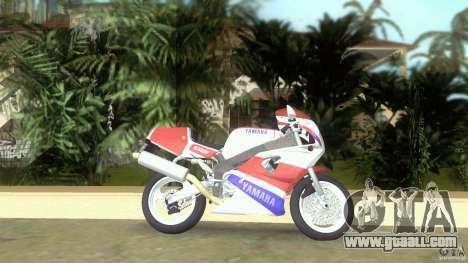 Yamaha FZR 750 original plain for GTA Vice City left view