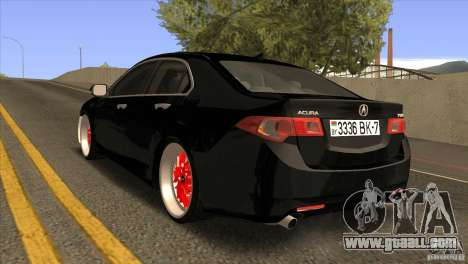 Acura TSX Doxy for GTA San Andreas back left view
