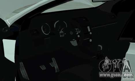 Volkswagen Golf R Modifiye for GTA San Andreas inner view