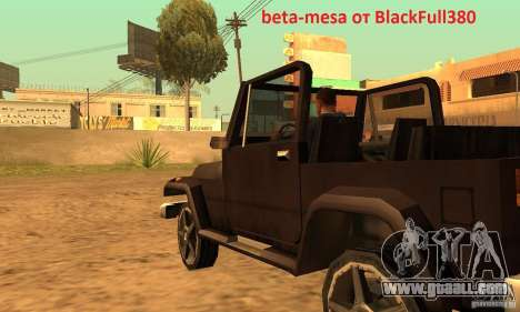 Mesa From Beta Version for GTA San Andreas left view