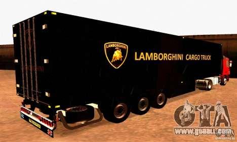 Lamborghini Cargo Truck for GTA San Andreas left view