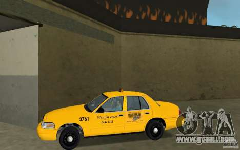 Ford Crown Victoria Taxi for GTA Vice City left view