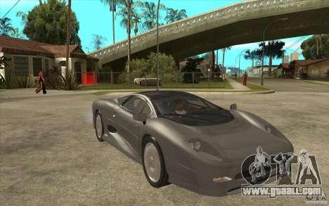 Jaguar XJ 220 for GTA San Andreas back view