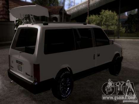 Plymouth Grand Voyager 1970 for GTA San Andreas back left view