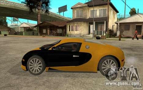 Bugatti Veyron v1.0 for GTA San Andreas left view