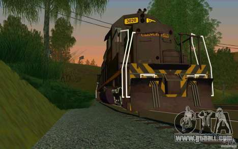 Clinchfield sd40 for GTA San Andreas right view