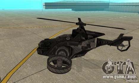 A helicopter from the game TimeShift Black for GTA San Andreas back left view