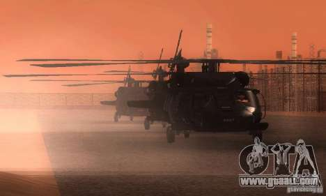 UH-60M Black Hawk for GTA San Andreas upper view