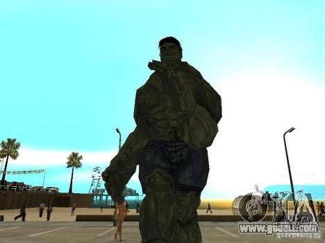 Hulk Skin for GTA San Andreas second screenshot