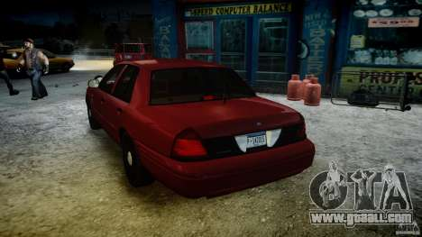 Ford Crown Victoria Detective v4.7 red lights for GTA 4 bottom view