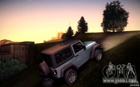 Jeep Wrangler Rubicon 2012 for GTA San Andreas left view