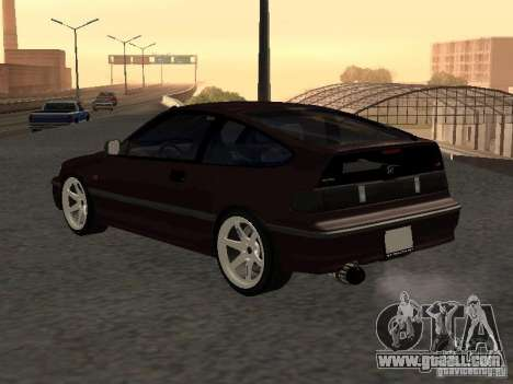 Honda Civic CRX JDM for GTA San Andreas back view