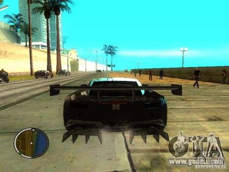 Lexus LFA for GTA San Andreas back left view